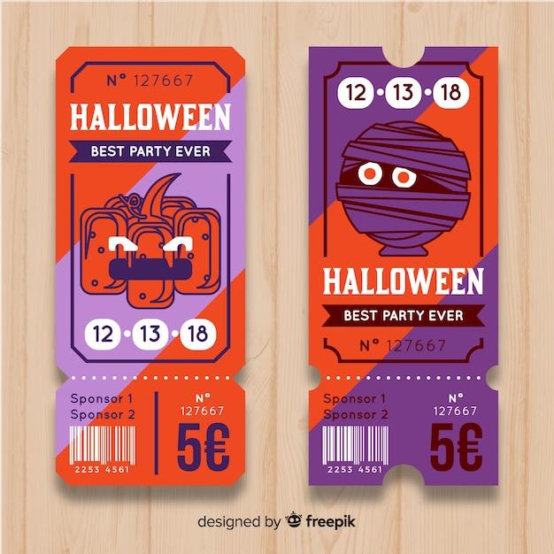 Modernes halloween-kartenkonzept Kostenlosen Vektoren