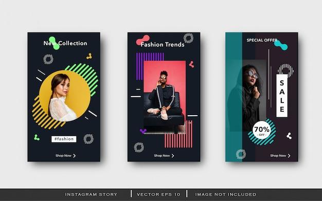 Modernes instagram-story-banner Premium Vektoren