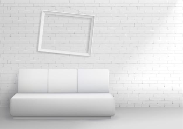 Modernes interieur mit sofa Premium Vektoren