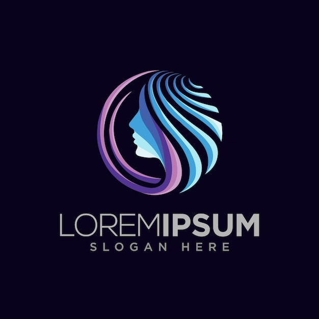 Modernes kosmetisches logo-designkonzept Premium Vektoren