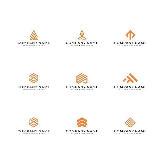 Modernes logo-design Premium Vektoren