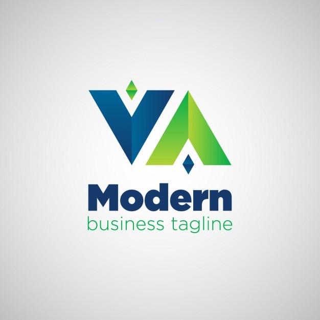 Modernes logo umgekehrt Kostenlosen Vektoren