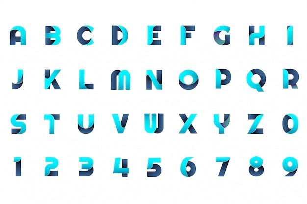 Modernes minimales vektor-logo für banner Premium Vektoren