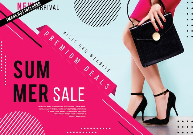 Modernes mode-verkaufsplakat Premium Vektoren