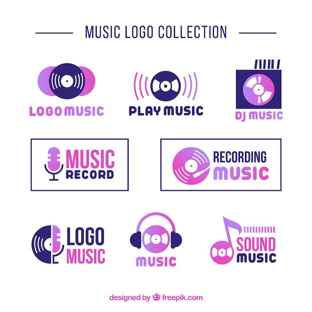 Modernes musiklogo Kostenlosen Vektoren