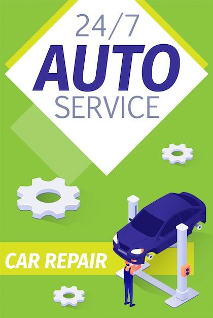 Modernes präsentationsplakat für fulltime auto service Kostenlosen Vektoren