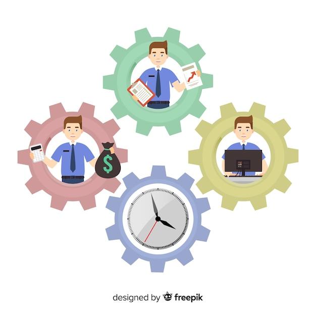 Modernes produktivitätskonzept mit flachem design Kostenlosen Vektoren