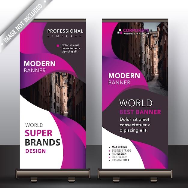 Modernes roll up banner mock up Kostenlosen Vektoren