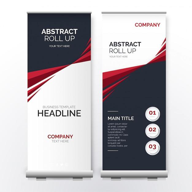 Modernes roll-up mit abstrakten formen Kostenlosen Vektoren