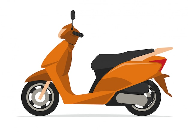 Modernes roller motorrad Premium Vektoren