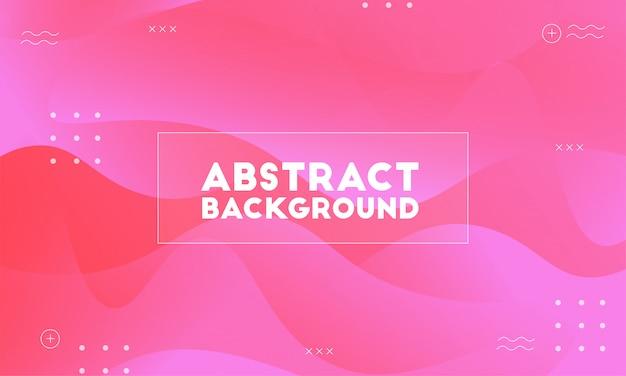 Modernes rosa bacground der dynamischen welle Premium Vektoren