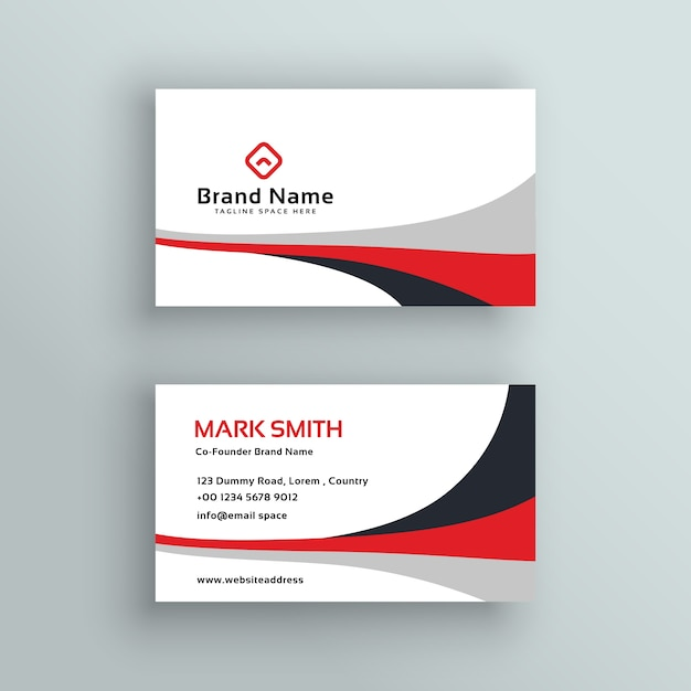 Modernes Sauberes Visitenkarte Karten Design Kostenlose Vektor
