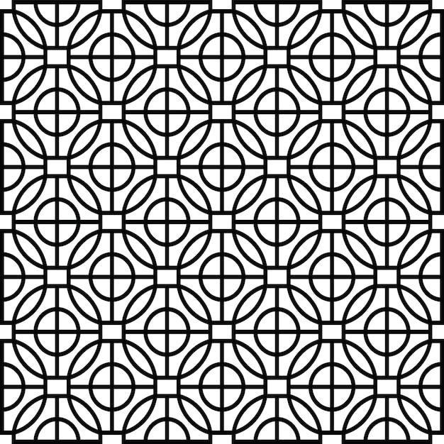 Modernes schablonenmuster der geometrischen form Premium Vektoren
