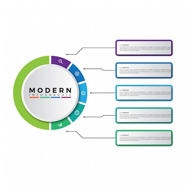 Modernes timeline-infografiken-design Premium Vektoren