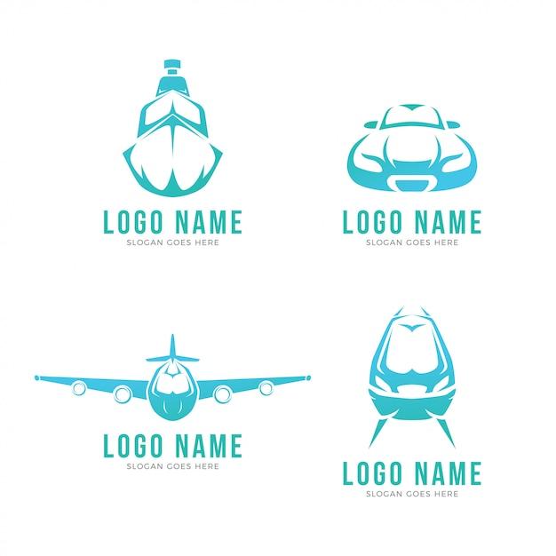 Modernes transport-logo Premium Vektoren