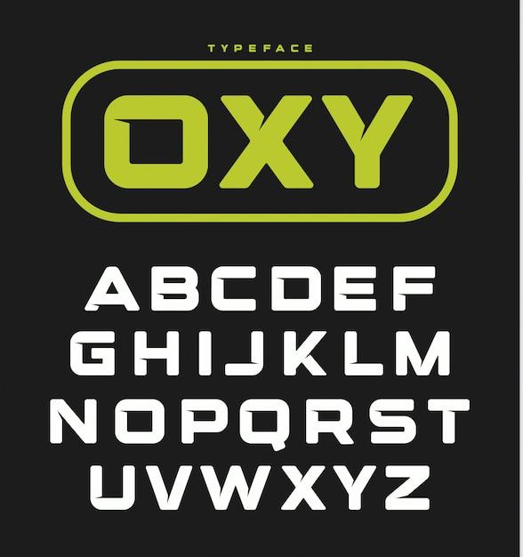 Modernes ungewöhnliches mutiges englisches alphabet. Premium Vektoren
