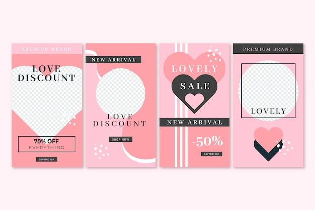 Modernes valentinstag-verkaufspaket Kostenlosen Vektoren