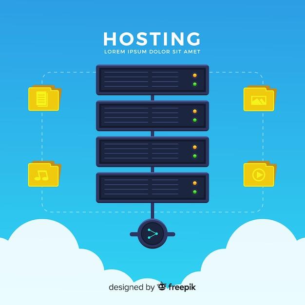 Modernes webhosting-konzept Kostenlosen Vektoren