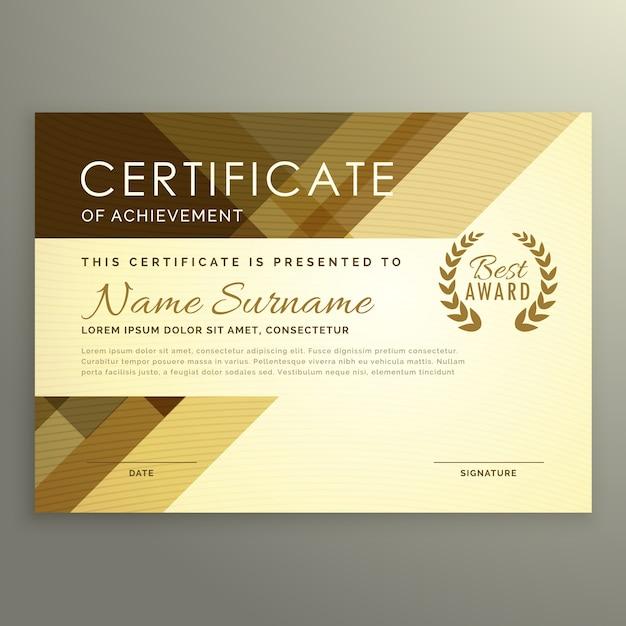 Modernes zertifikatdesign im premium-stil Kostenlosen Vektoren