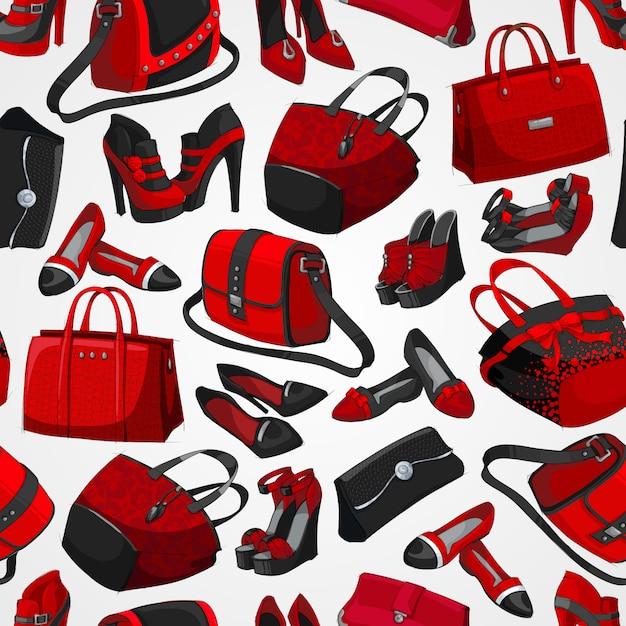 Modezubehörhintergrund der nahtlosen frau Kostenlosen Vektoren