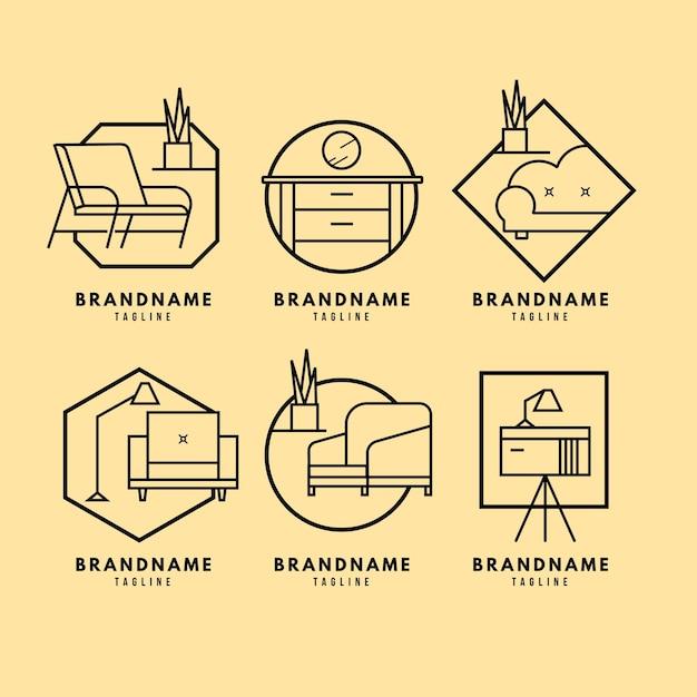 Möbel-logo-pack Kostenlosen Vektoren