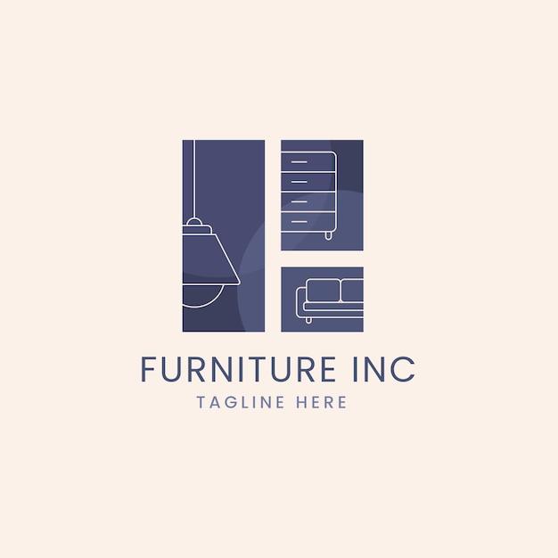 Möbel logo vorlage Premium Vektoren