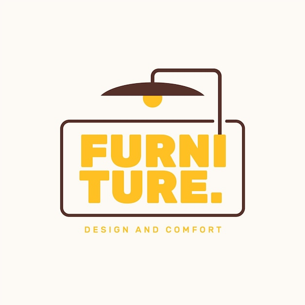 Möbel logo vorlage Kostenlosen Vektoren