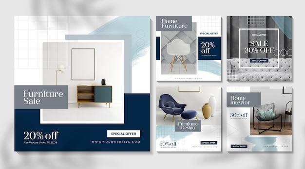 Möbelverkauf instagram post Kostenlosen Vektoren