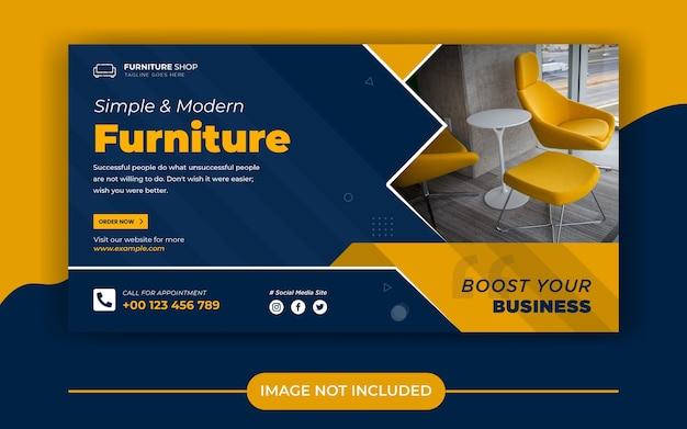 Möbelverkauf social media banner post vorlage Premium Vektoren