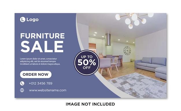 Möbelverkauf social media cover banner vorlage Premium Vektoren