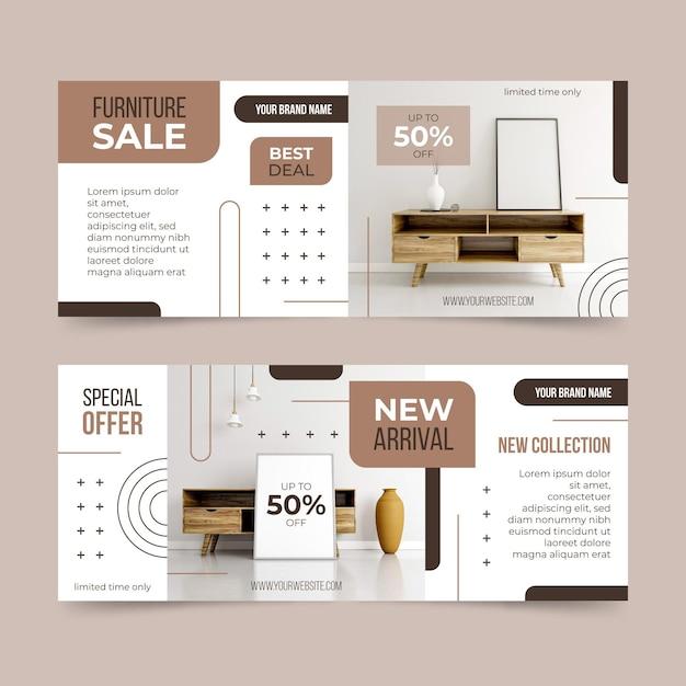 Möbelverkaufsbanner mit rabatt Kostenlosen Vektoren