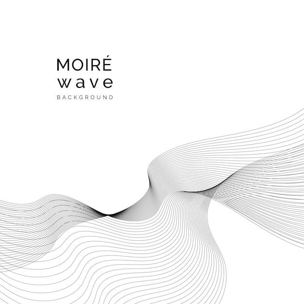 Moiré muster hintergrund Kostenlosen Vektoren
