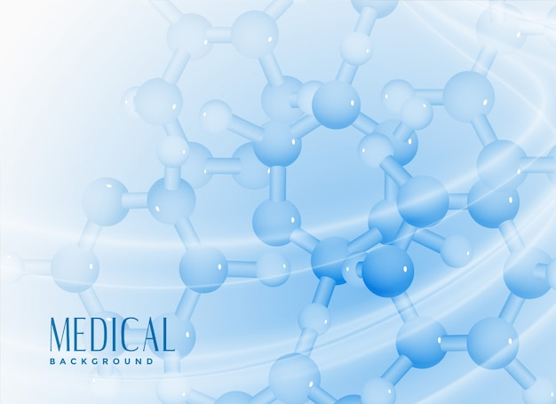 Molekülhintergrund für medizinisches oder wissenschaft Kostenlosen Vektoren