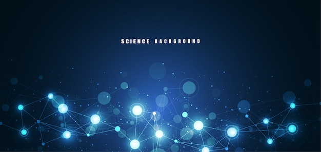 Molekülstruktur hintergrund Premium Vektoren