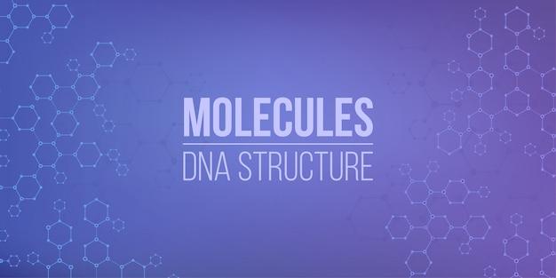 Molekülstruktur kodierendes verbindungsgenom. Premium Vektoren