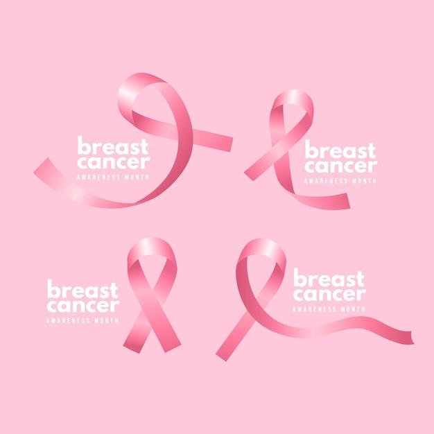 Monatsabzeichen für brustkrebsbewusstsein Kostenlosen Vektoren