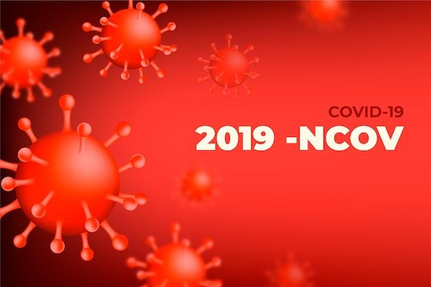 Monochromatischer coronavirus-hintergrund Kostenlosen Vektoren