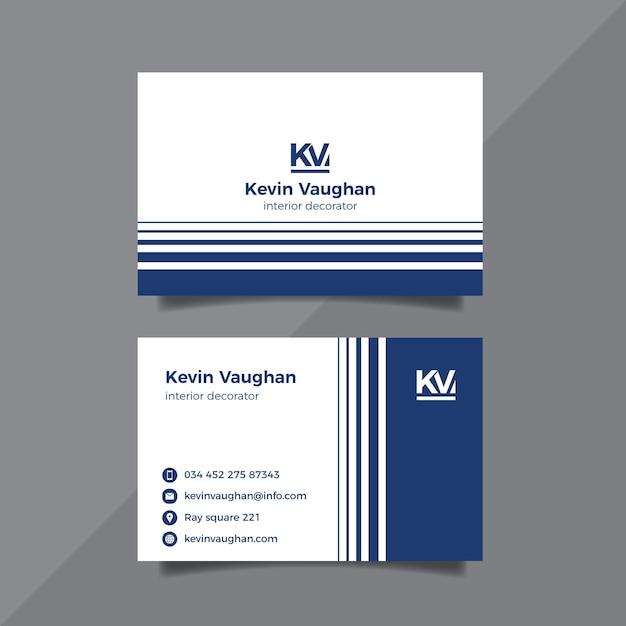 Monochrome visitenkartenvorlage Kostenlosen Vektoren