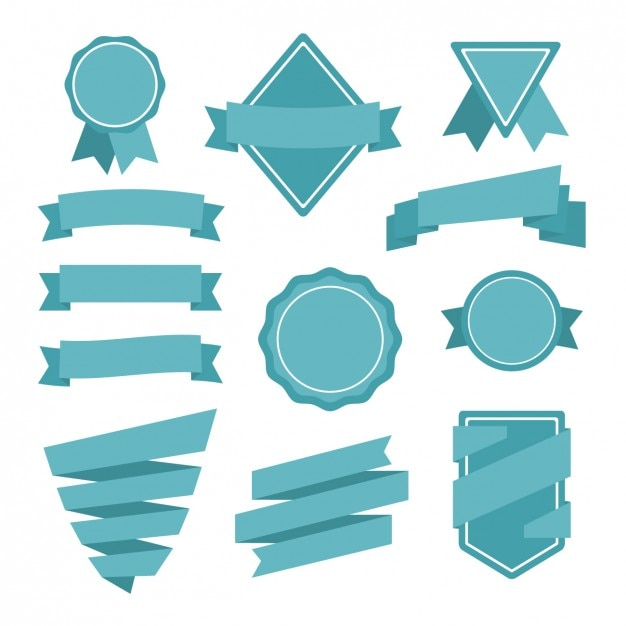 Monocromatic Bänder Design Kostenlose Vektoren