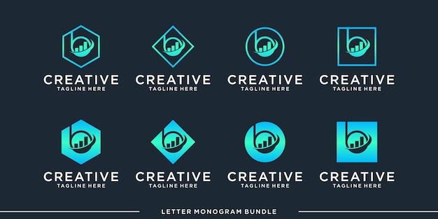 Monogramm abstrakte anfängliche b logo design vorlage Premium Vektoren