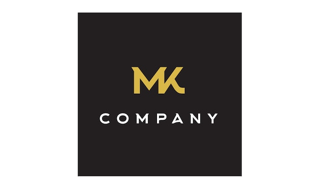 Monogramm / initialen mk logo design inspiration Premium Vektoren