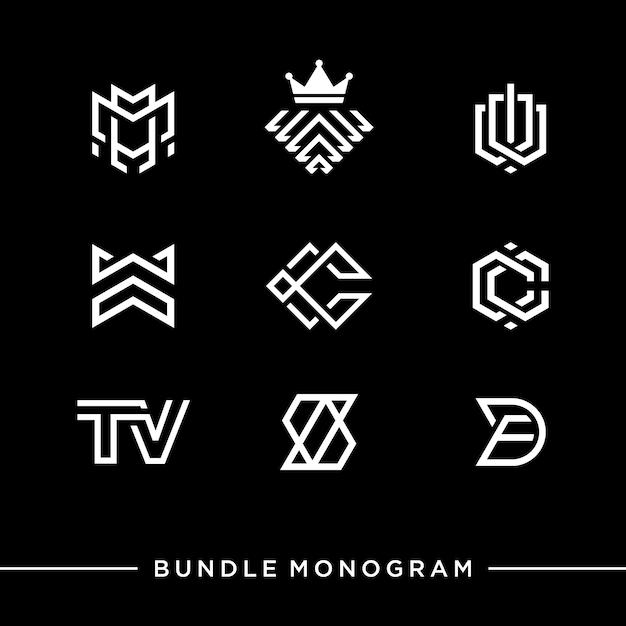 Monogramm-logo Premium Vektoren