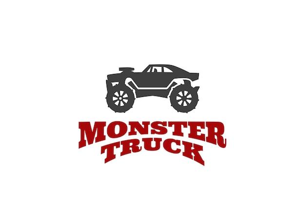 Monster truck logo vorlage Kostenlosen Vektoren