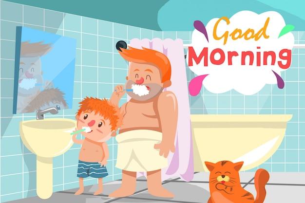 Morgenaktivität Premium Vektoren