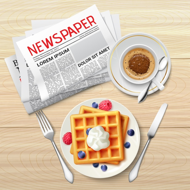 Morgenzeitung poster Kostenlosen Vektoren