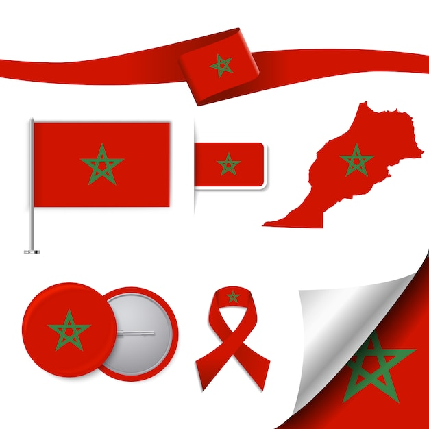 Moroco repräsentative elemente sammlung Kostenlosen Vektoren