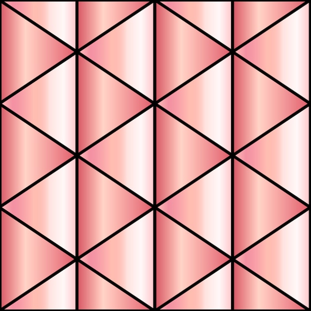 Mosaikhintergrund im rosengold Premium Vektoren