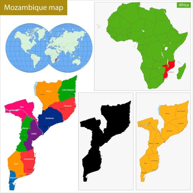 Mosambik Karte.Mosambik Karte Download Der Premium Vektor