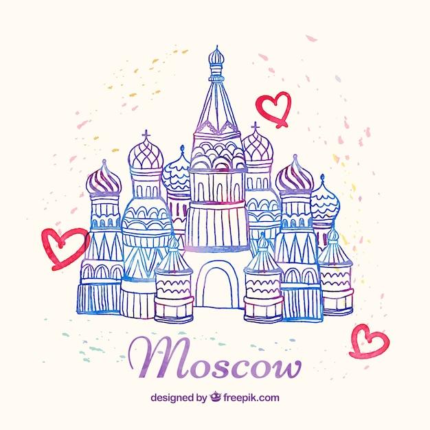 Moskau denkmal Kostenlosen Vektoren