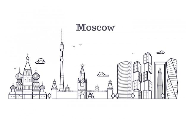 Moskau lineares russland markstein Premium Vektoren